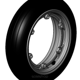 Rear Wheel with Tire